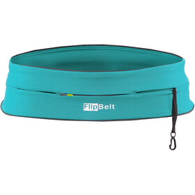 FlipBelt Zipper Fitness Belt, aqua